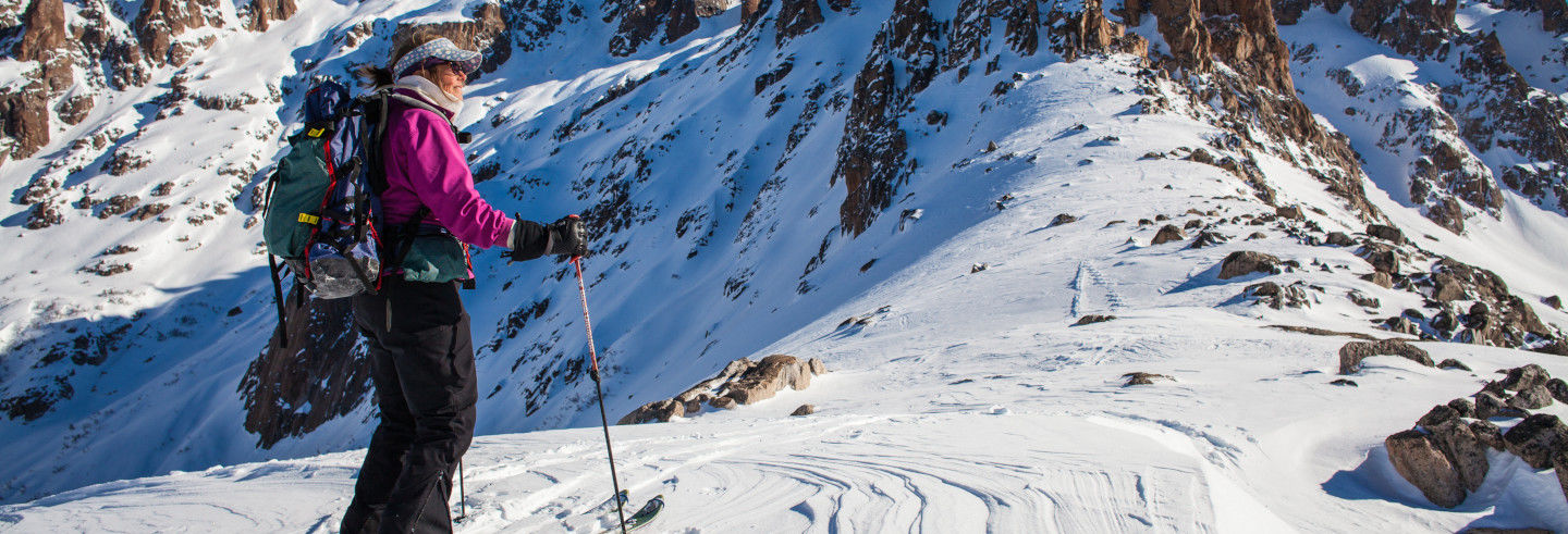 Aula de esqui no Cerro Catedral