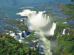 Cataratas del Iguazú desde el helicóptero