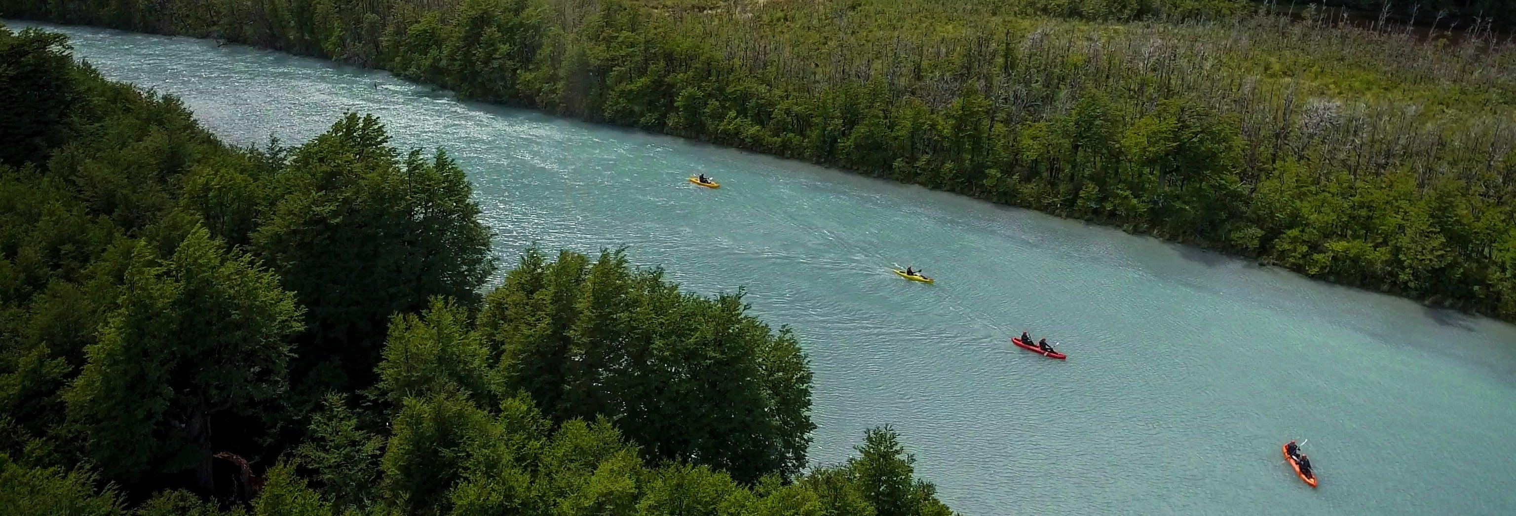 Tour del Río de las Vueltas in kayak