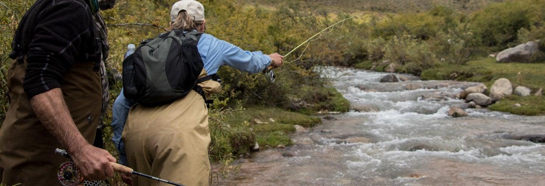 Escursione di pesca nella provincia di Mendoza