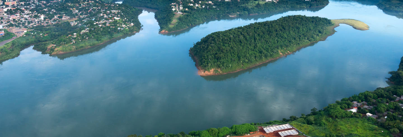 Balade en bateau sur les rivières Paraná et Iguazú