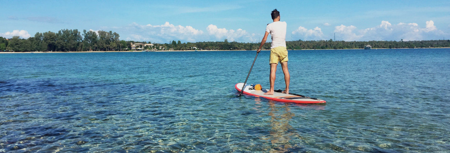 Paddle surf a Double Island Point