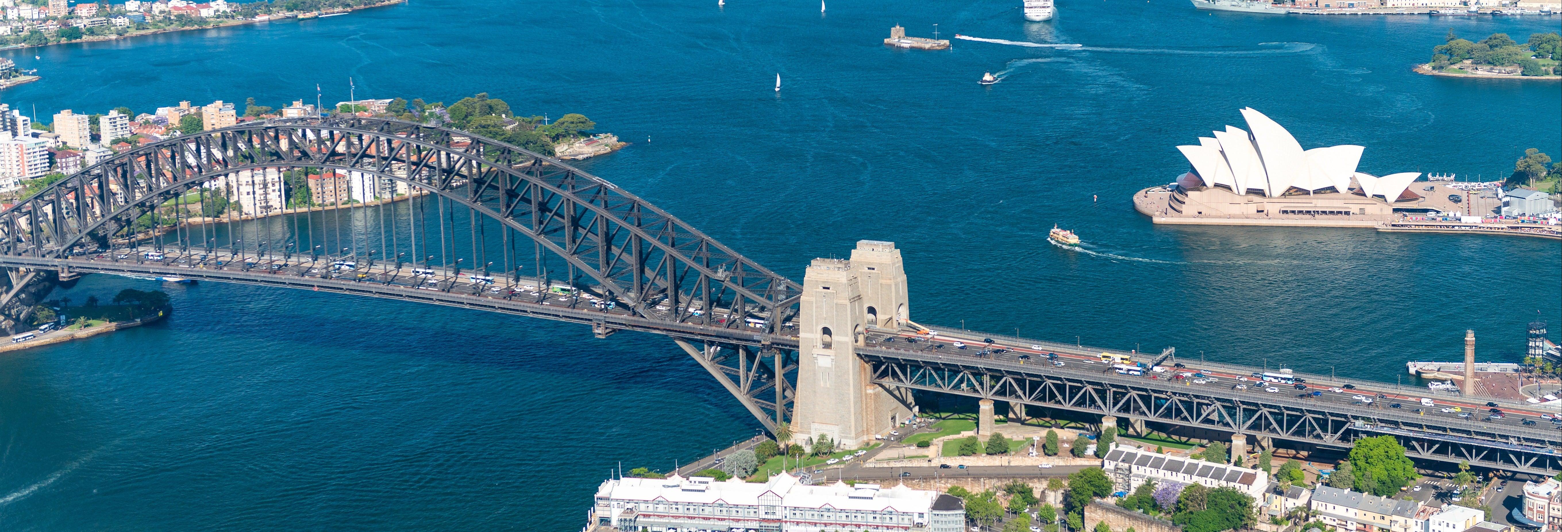 Balade en hélicoptère au-dessus de Sydney