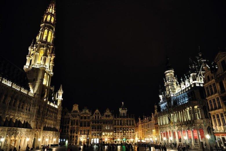 Bruselas, Grand Place Iluminada