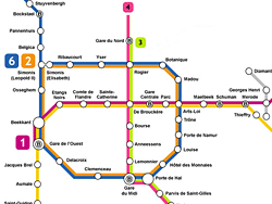 Brussels Metro Lines Map Timetable And Tickets