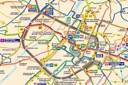 Mappa del trasporto di Bruxelles