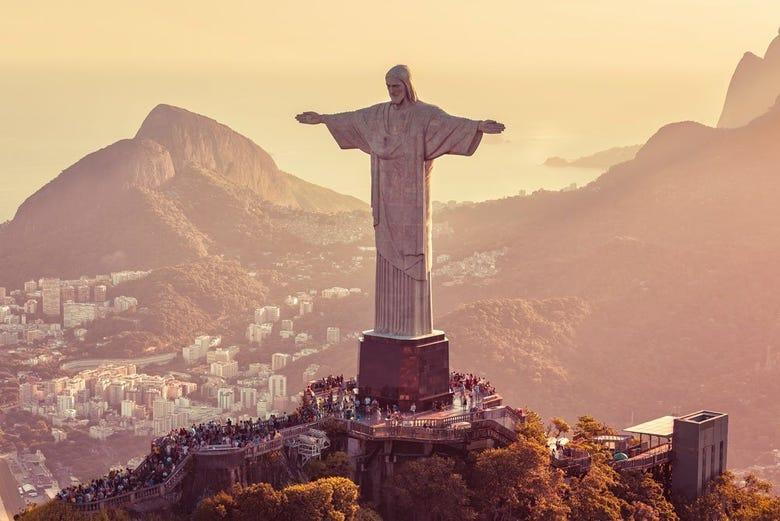 Cristo De Corcovado Y Pan De Azúcar Desde Río, Río De