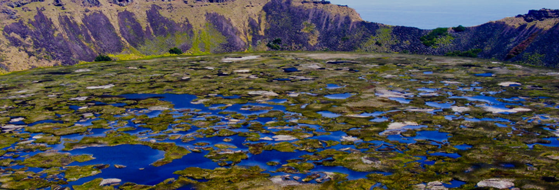 Excursão a Orongo e ao vulcão Rano Kau