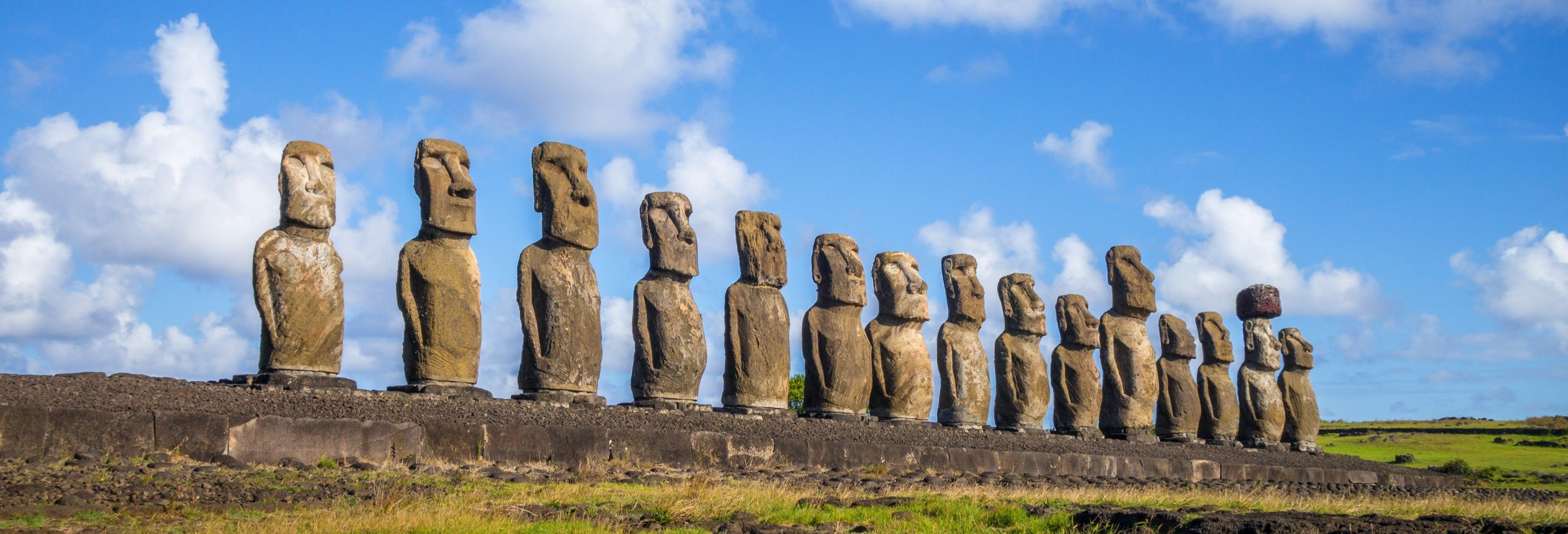 Tour por la isla de Pascua y la playa de Anakena