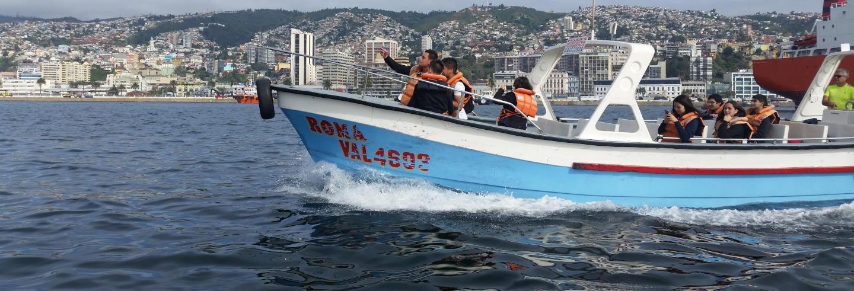 Giro in barca a Valparaíso