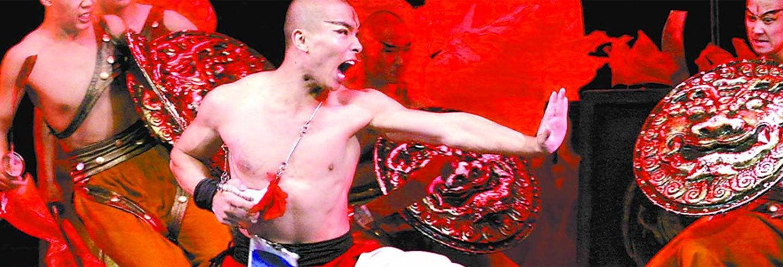Espetáculo A lenda do Kung Fu