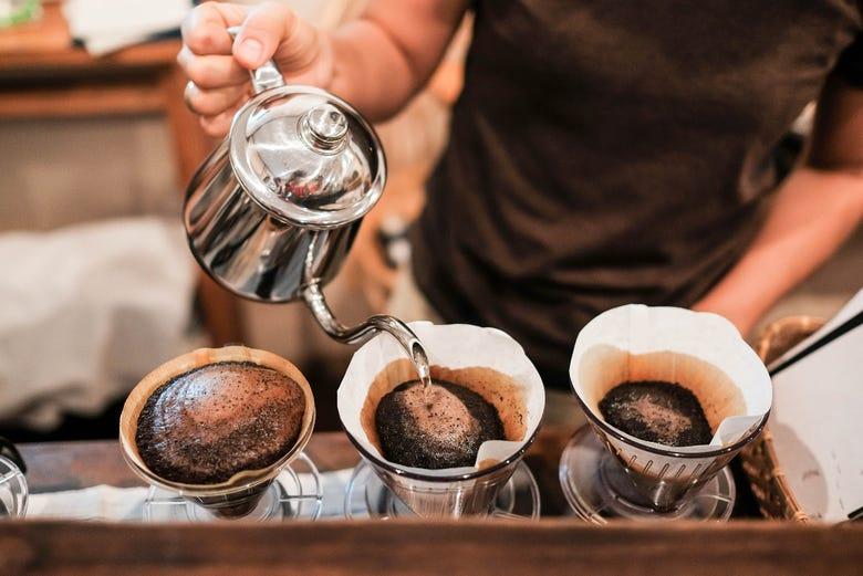 Tournée des cafés dans le quartier de La Candelaria