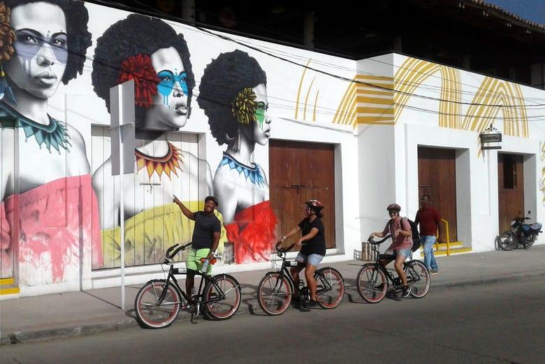 Balade à vélo dans Carthagène des Indes