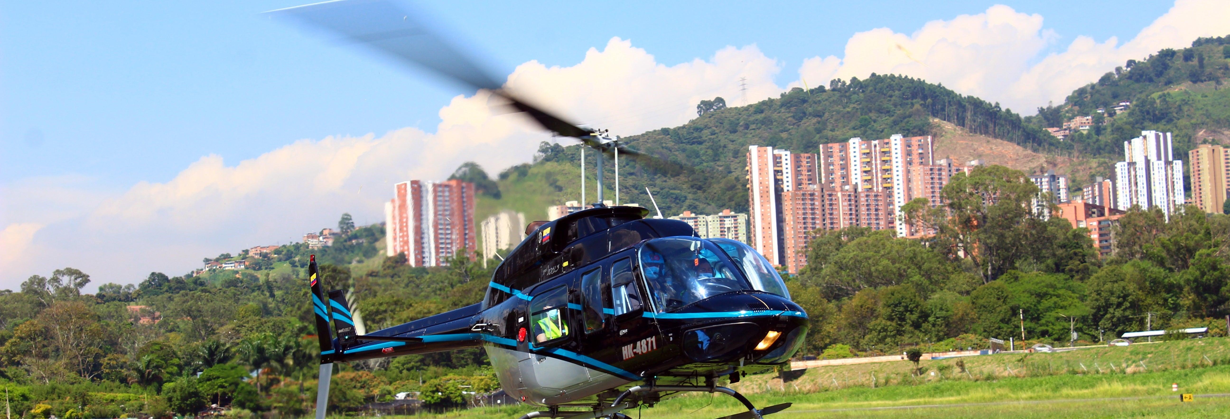Paseo en helicóptero por Medellín