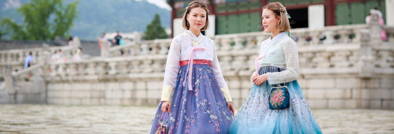 Aluguel de hanbok tradicional