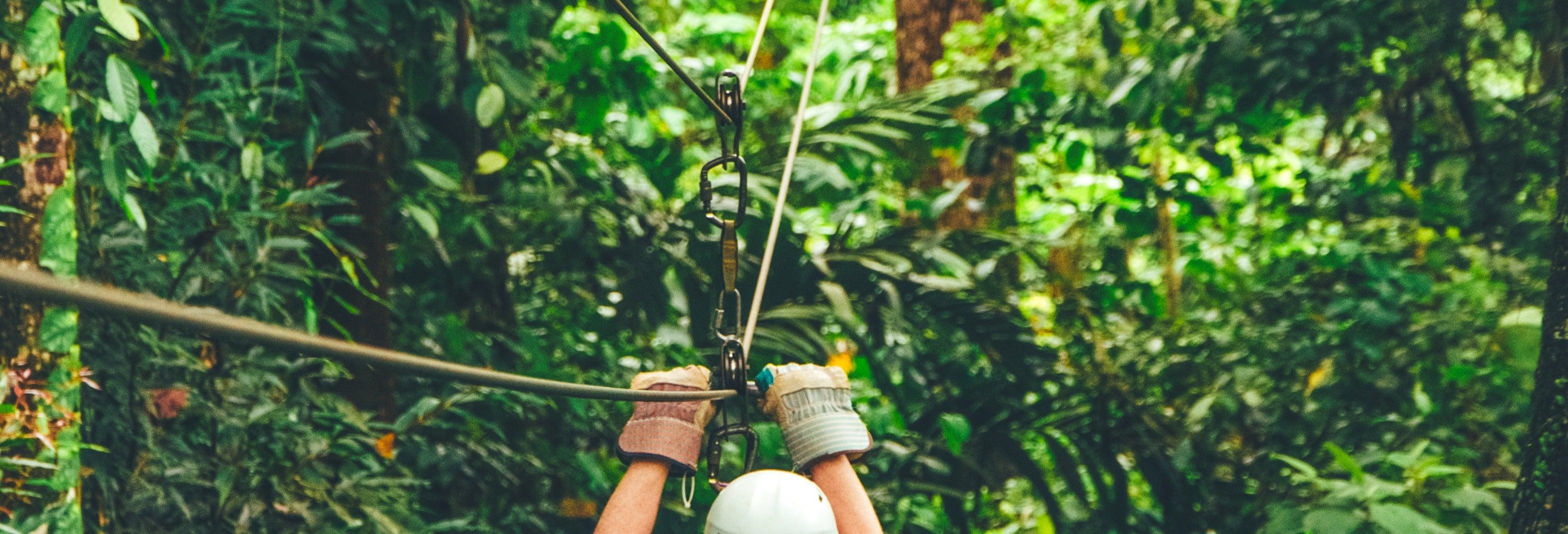 Tirolina en el Parque de Aventura San Luis