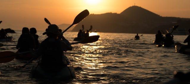 Tour en kayak al atardecer