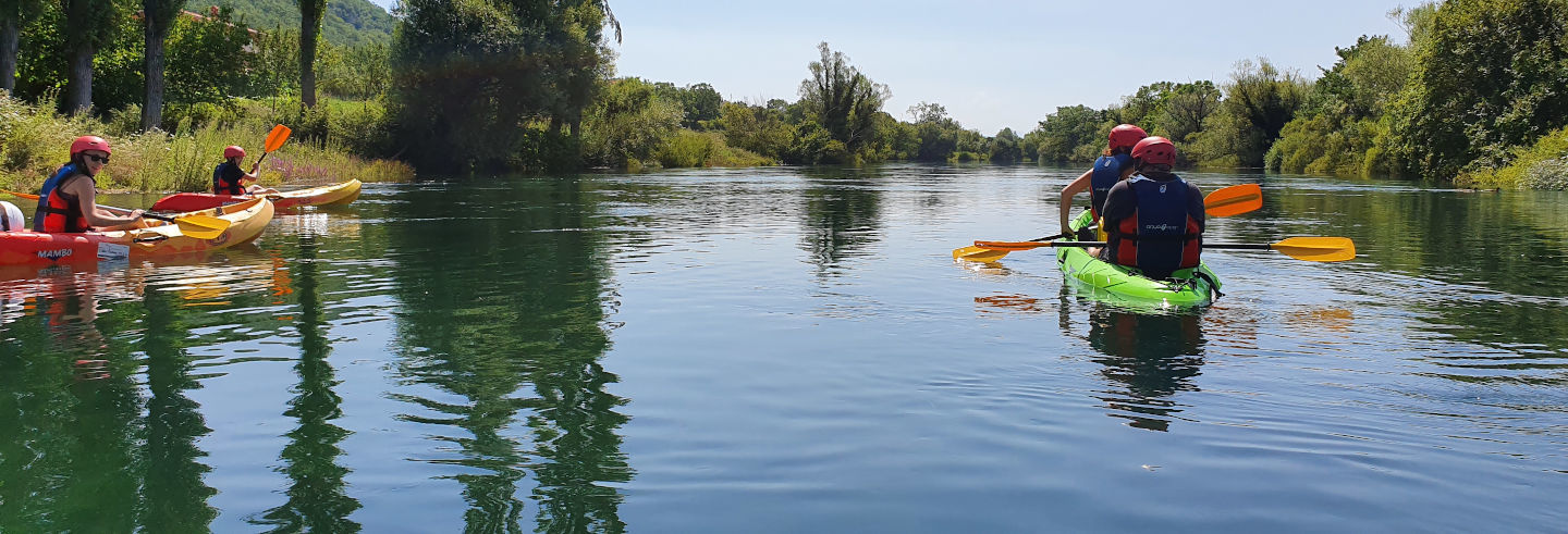 Balade en kayak sur la Cetina