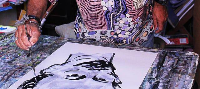 Clase de pintura y visita a una galería de arte