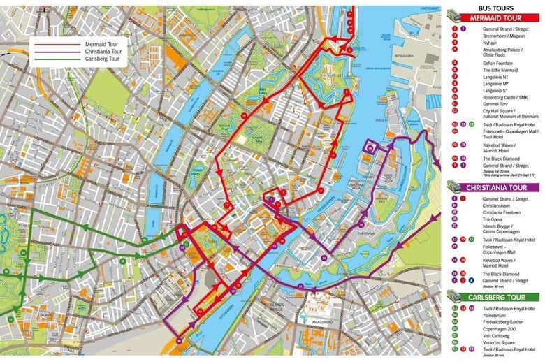 Mapa Turistico De Copenhague.Mapa Turistico De Copenhague Mapa