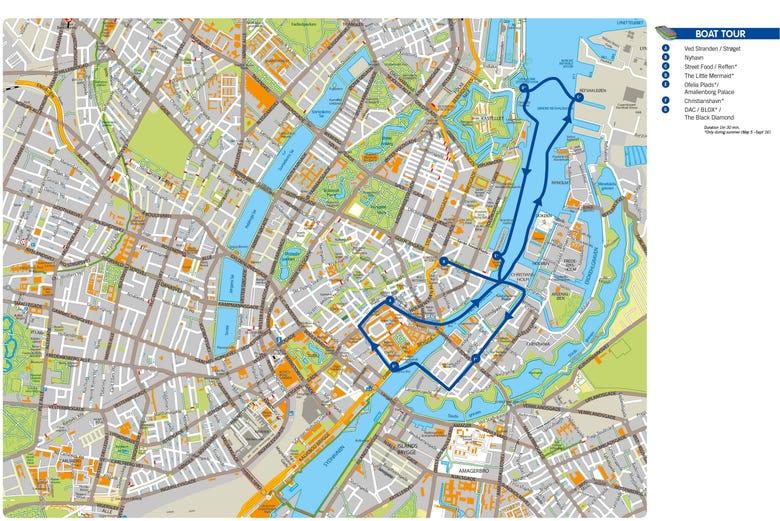 Mapa Turistico De Copenhague.Barco Turistico De Copenhague