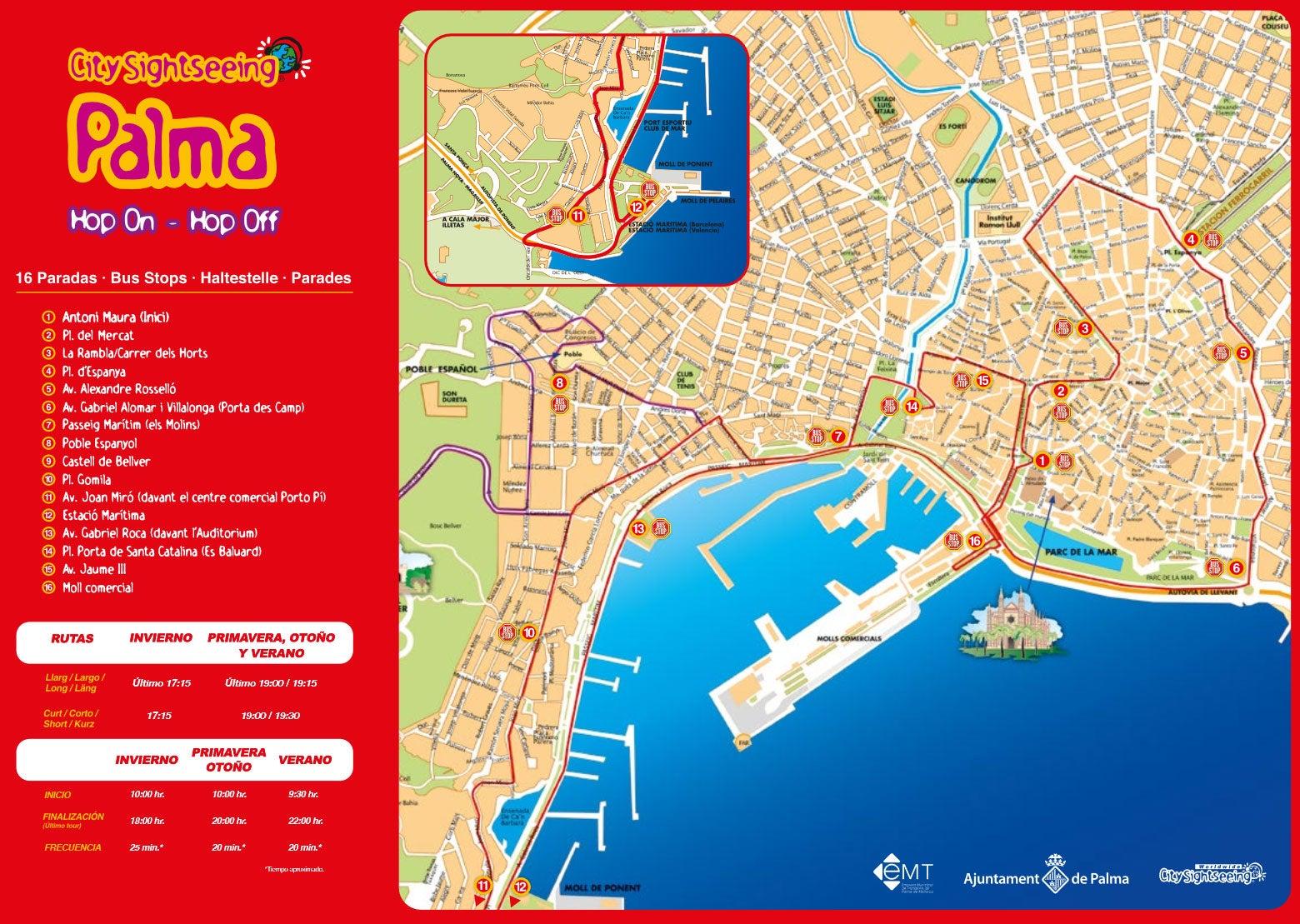 mapa turistico de palma de maiorca Ônibus turístico de Palma de Mallorca   Reserve em Civitatis.com mapa turistico de palma de maiorca