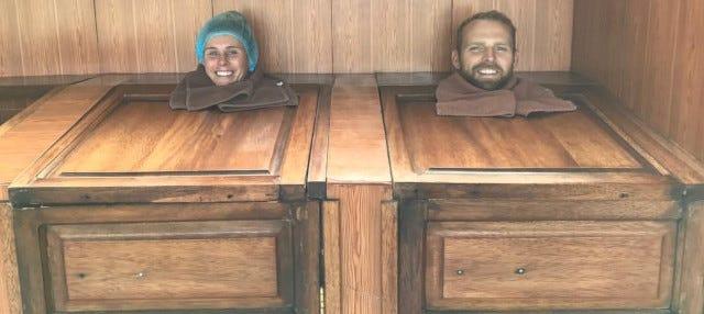 Baño de cajón en El Refugio Spa