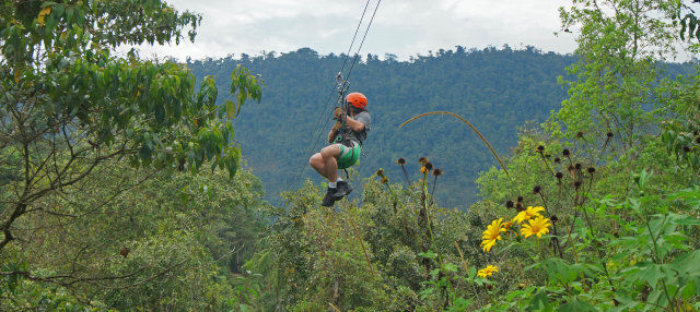 Zipline over Nambillo Forest