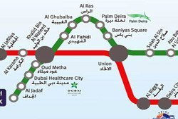 Mappa della Metro di Dubai
