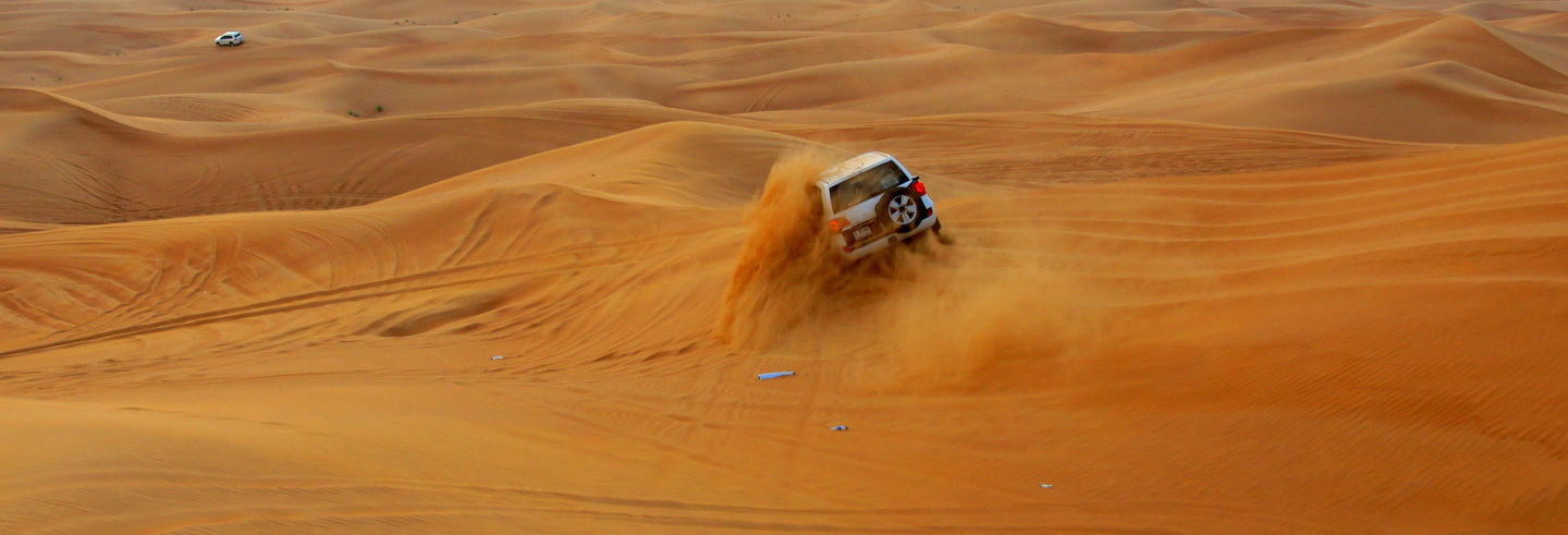 Safári pelo deserto ao amanhecer
