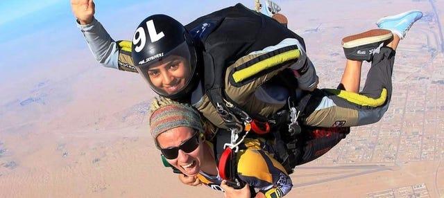 Salto tándem en Dubái