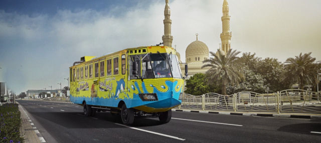 Tour en autobús anfibio por Dubái