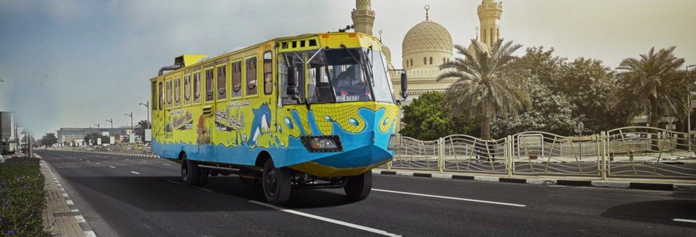 Visite en bus amphibie à Dubaï