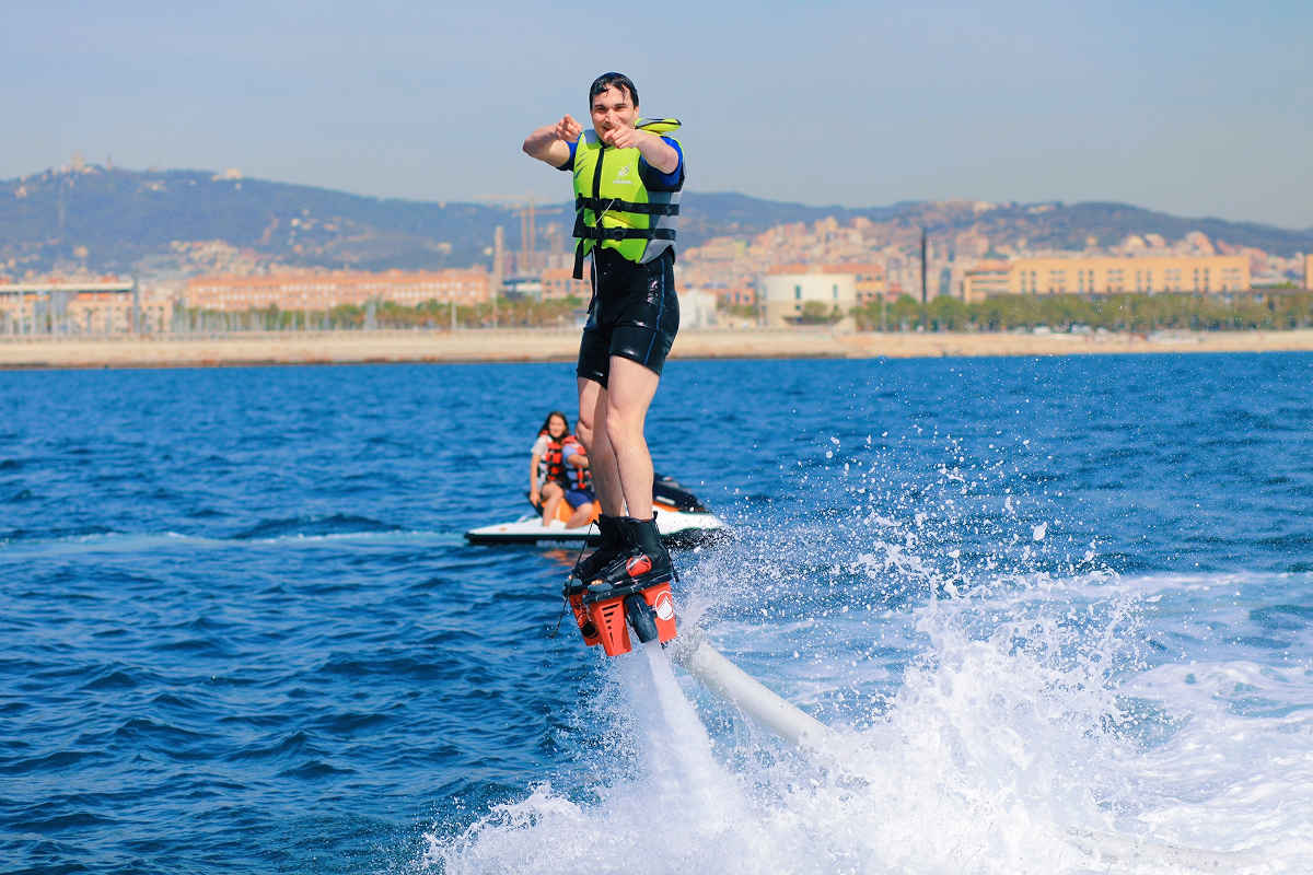 Hoverboard ou Flyboard à Barcelone