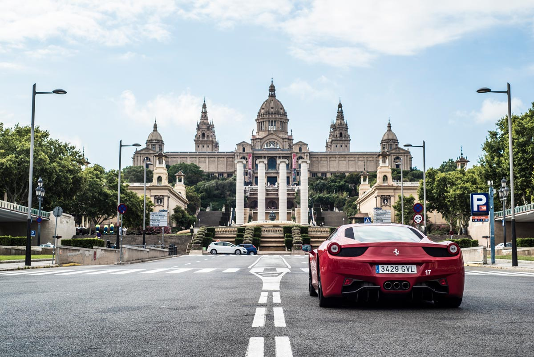 Exploring Montjuic In A Ferrari