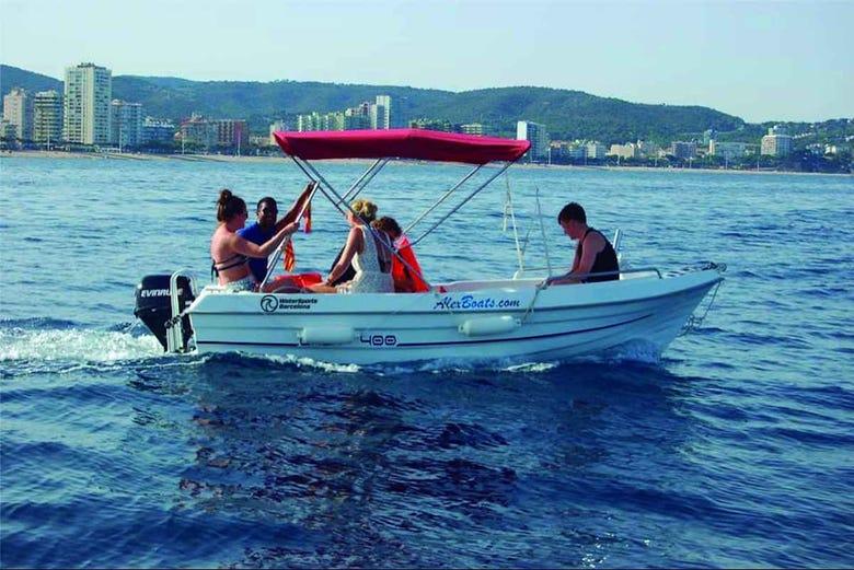 Location de bateau sans permis à Barcelone