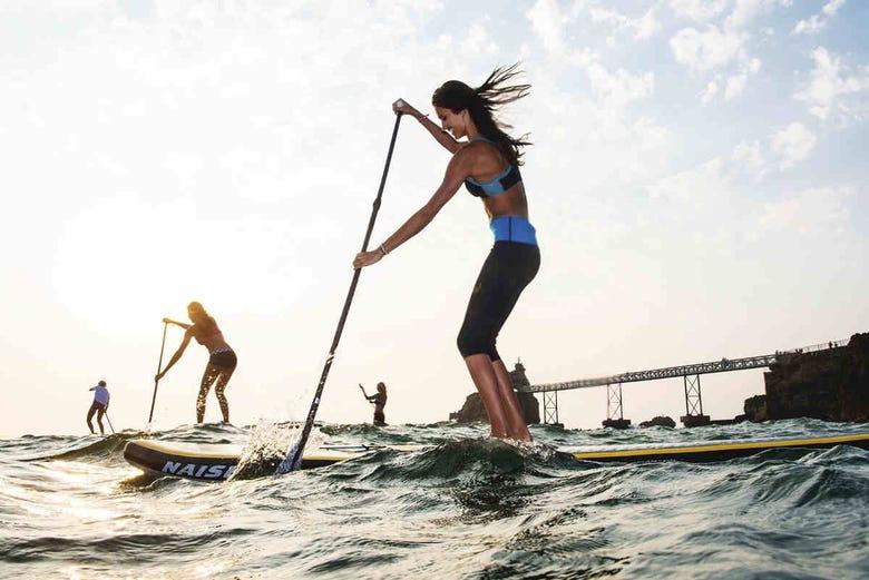 Cours de paddle à Barcelone