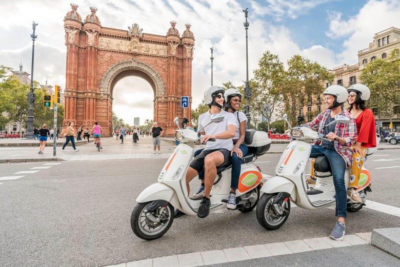 Tour en Vespa dans Barcelone