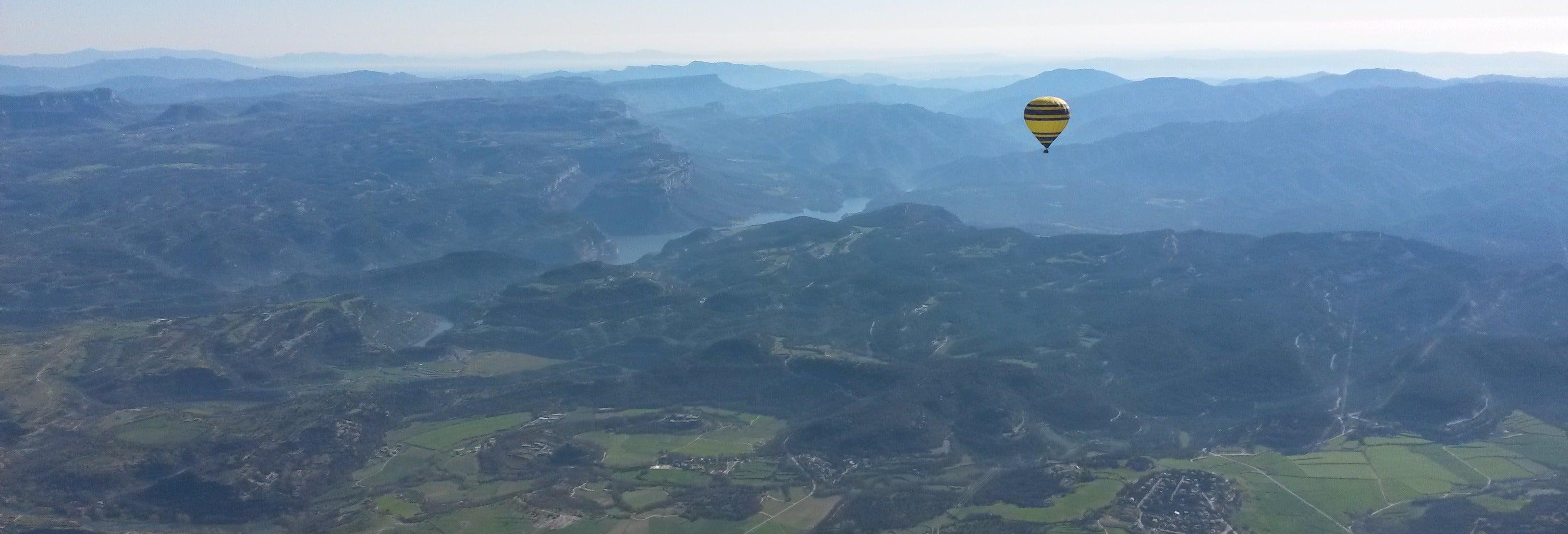 Paseo en globo por el Montseny