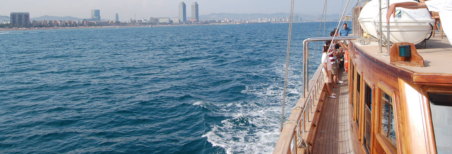 Wooden Boat Cruise in Barcelona