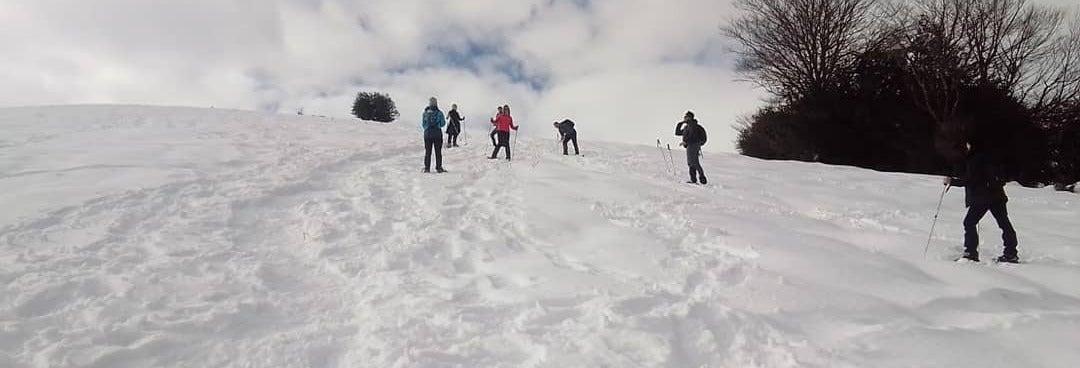 Paseo con raquetas de nieve por Alto Campoo