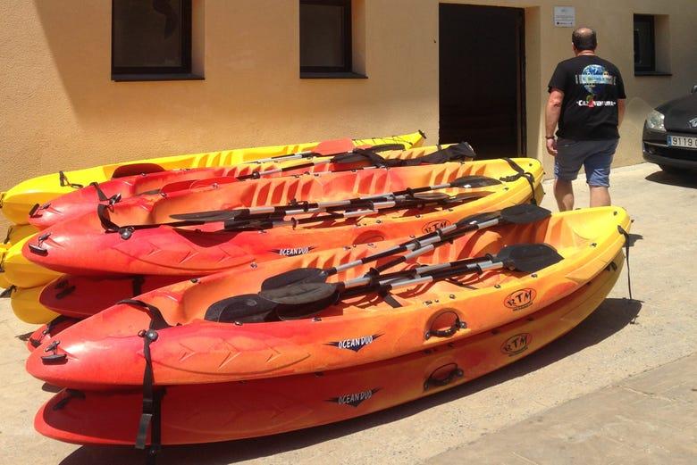 Balade en kayak dans la Rioja Alavesa