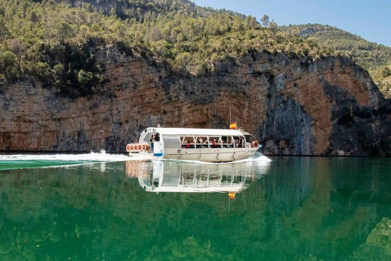 Balade en bateau dans les gorges de Júcar