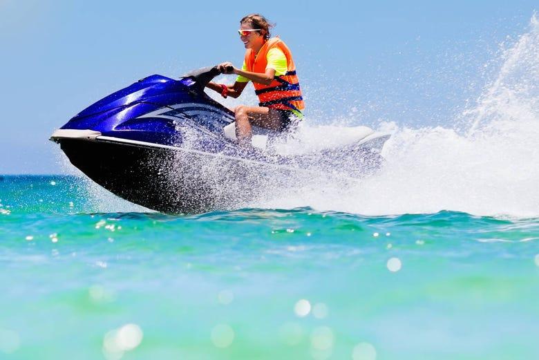 Tour de Jet ski sur la côte de Dénia