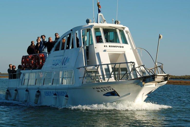 Balade en bateau à El Rompido