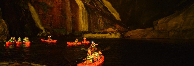 Tour nocturno en kayak por la cascada de Ézaro