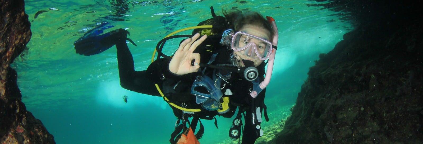 Bautismo de buceo en Formentera