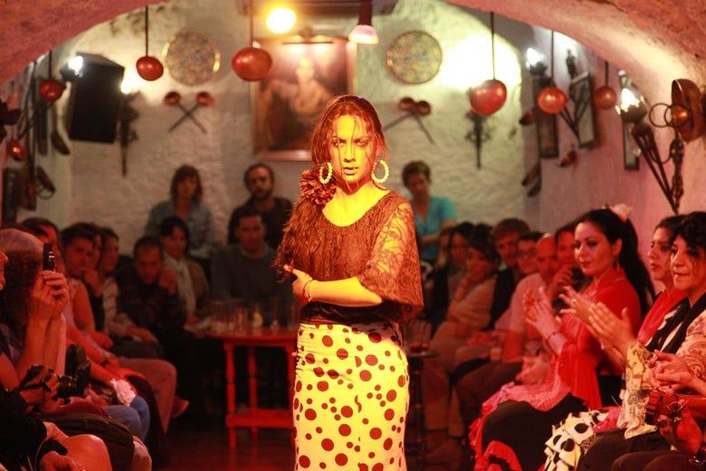 Flamenco et dîner au Sacromonte : Cuevas Los Tarantos