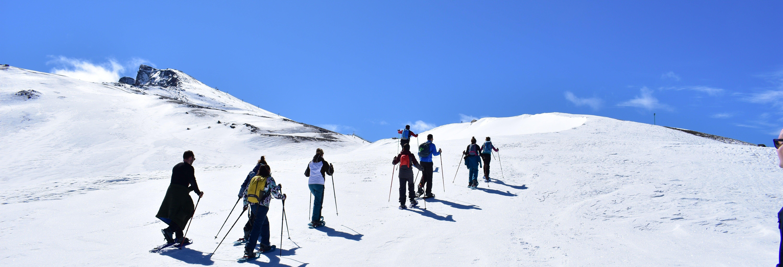 Balade en raquettes à neige dans la Sierra Nevada