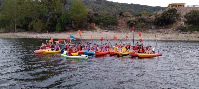 Tour en kayak por el embalse de Plasencia
